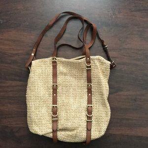 GAP straw purse